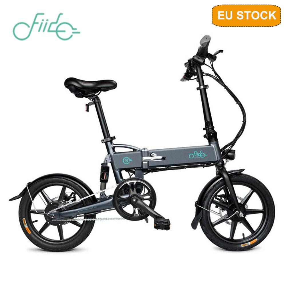 [Em estoque] fiido d2 bicicleta elétrica dobrável ciclomotor três modos de equitação 16 Polegada pneus 250 w motor 25 km/h 7.8ah bicicleta elétrica