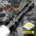 7000 люменов светодиодный тактический фонарик ультра яркий USB Перезаряжаемый водонепроницаемый скаутский фонарь охотничий фонарь 5 режимов ...