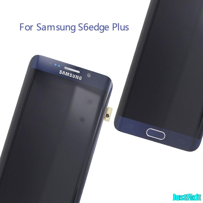 Oryginalny do SAMSUNG GALAXY S6 krawędzi plus G928 G928A wyświetlacz LCD ekran dotykowy Digitizer Super Amoled w celu uzyskania w Ekrany LCD do tel. komórkowych od Telefony komórkowe i telekomunikacja na AliExpress - 11.11_Double 11Singles' Day 1