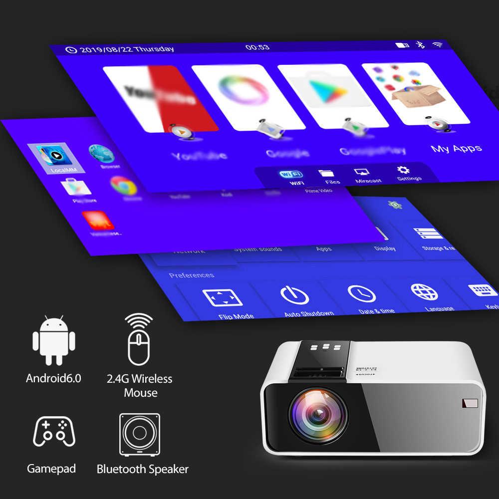 ThundeaL TD90 nativa de 720P Bluetooth WiFi Android Proyector 3D Video fiesta de cine Mini Proyector portátil de cine en casa  La pantalla grande juego de la película  Compatible con AC3