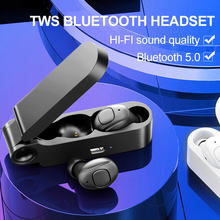 Super Light Portable Bluetooth Earphone Button Control Bluetooth Headset Binaural Stereo Sport Earbuds With Mic Charging Box