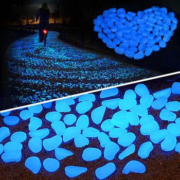 Dekoracyjne kamyki kolorowe świecące w ciemności do ogrodu lub akwarium żwir skały dekoracja różne kolory H1207 tanie i dobre opinie Żywica