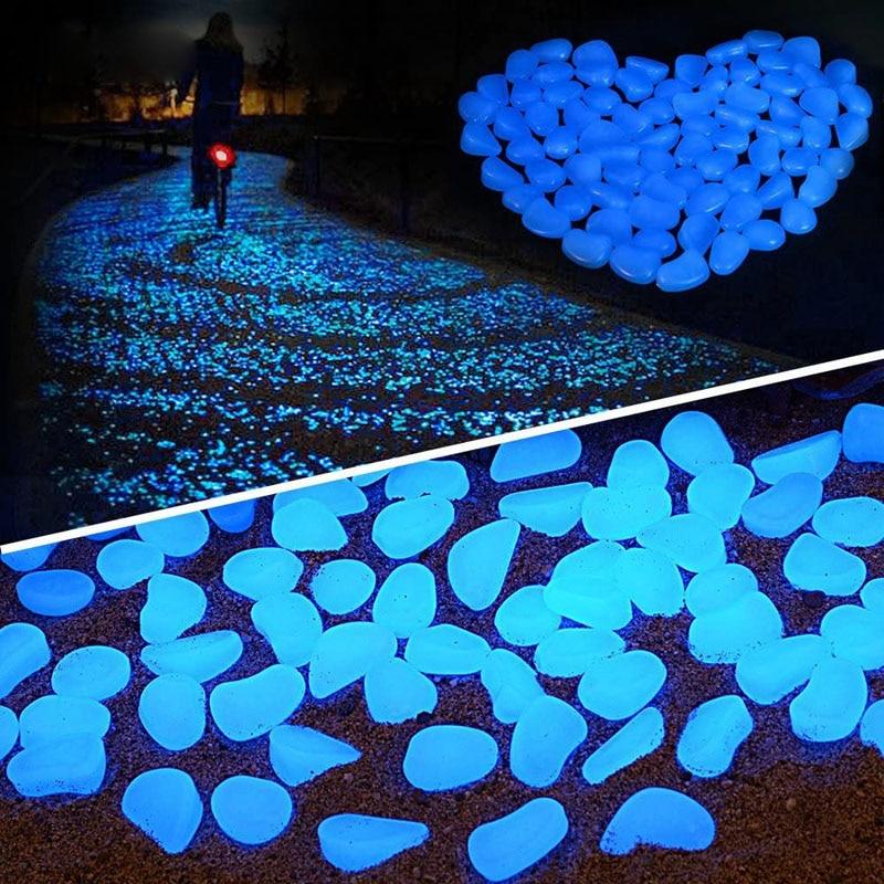 Wystrój ogrodu świecące kamienie świecą w ciemności dekoracyjne kamyki dekoracja akwarium na zewnątrz żwirowe skały akwarium Mix kolorów H1207
