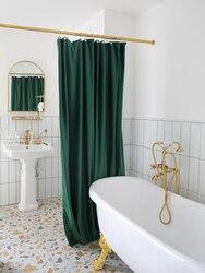 LIANGQI Dicke doppel samt dusche vorhang kostenloser stanzen plane warme vorhänge bad wasserdichte partition vorhang geschenk ball