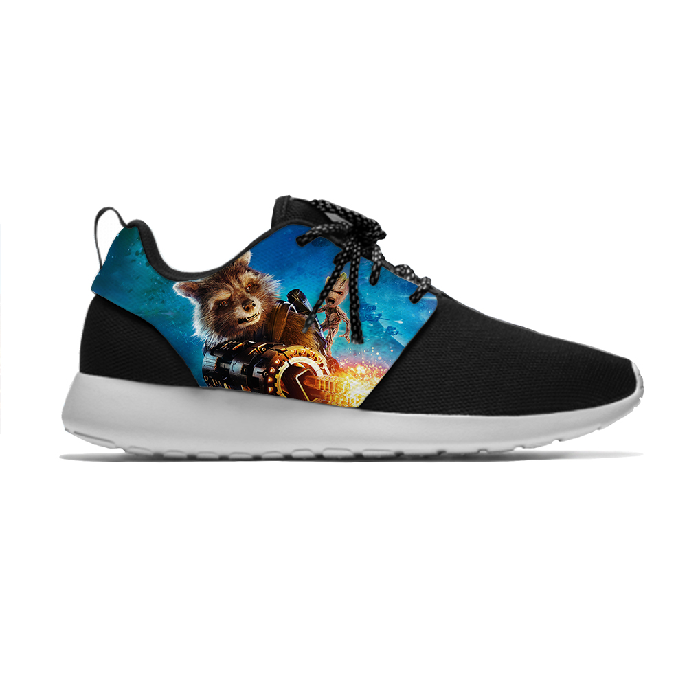 Rocket Raccoon Groot Guardians Hot Cool Fashion Creative Kids Sport Running Shoes Casual Breathable Sneakers Boys Children Girl|Sneakers| |  - title=