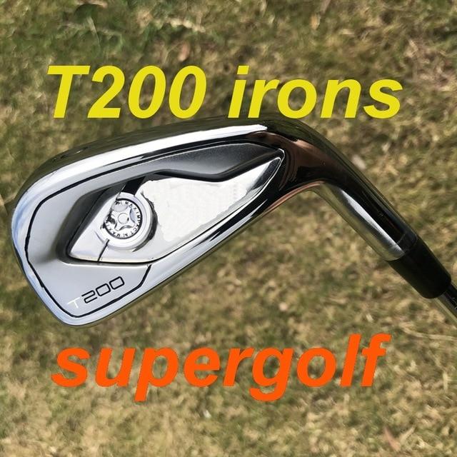 2020 ใหม่กอล์ฟ irons คุณภาพสูง T200 เตารีดปลอมชุด (4 5 6 7 8 9 P 48) แบบไดนามิกทอง S300 เพลาเหล็ก 8pcs กอล์ฟคลับ