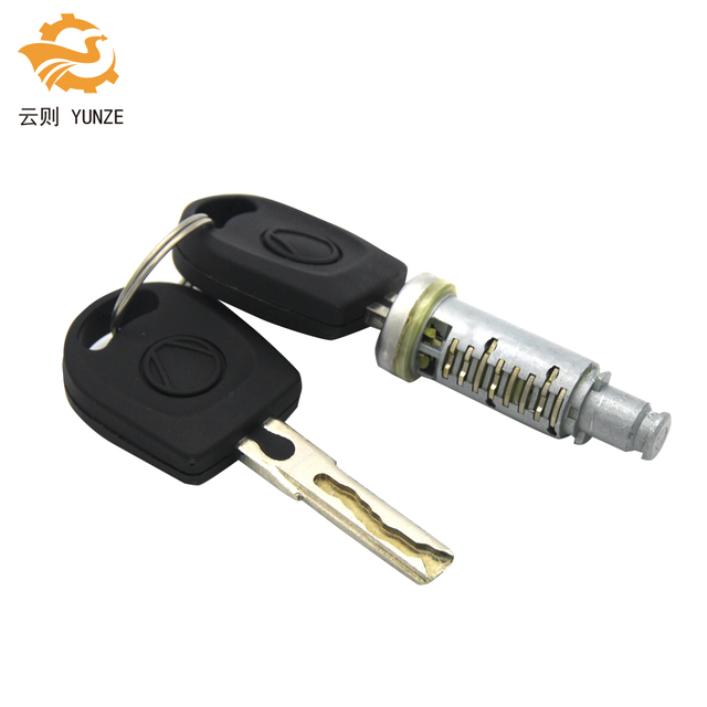 1PC LOCK BARREL WITH 2 KEYS FIT FOR VW GOLF 4 IV MK4 A6 SKODA FABIA POLO 9N SEAT PASSAT FOR LEFT RIGHT SIDE