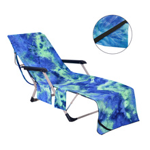Beach Towel Adults Sun Lounger Bed Holiday Garden Swimming Pool Lounge Pockets Carry Bag Chairs Cover Bath Towel cheap Plain Woven ROLL Compressed 15s-20s Print Microfiber Fabric Plain Dyed