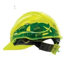 Portwest PV60 Safety Helmet Peak View Vented Ratchet Work Hard Hat in Translucent Hi
