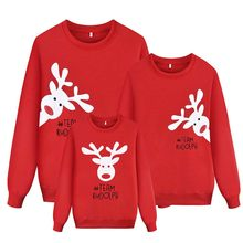 Family Matching Christmas Sweatshirt Elk Tops Xmas Warm Long Sleeve Pullover Christmas Kids Adult Xmas Sweatshirt Family Clothes(China)