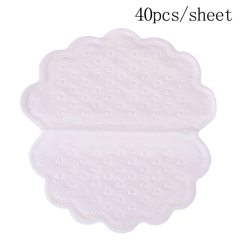 40Pcs/box Armpits Sweat Pads For Underarm Gasket From Sweat Absorbing Pads For Armpits Linings Disposable Anti Sweat Stickers