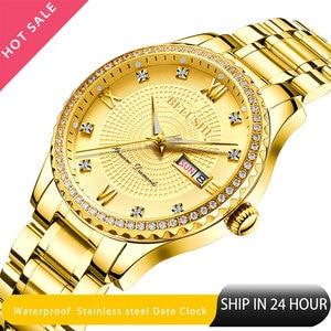 Image 1 - Belushi Gold watches Classics 2020 New Luxury Brand Watch Men Waterproof  Stainless Steel Man Watches Date Clock Erkek kol Saati
