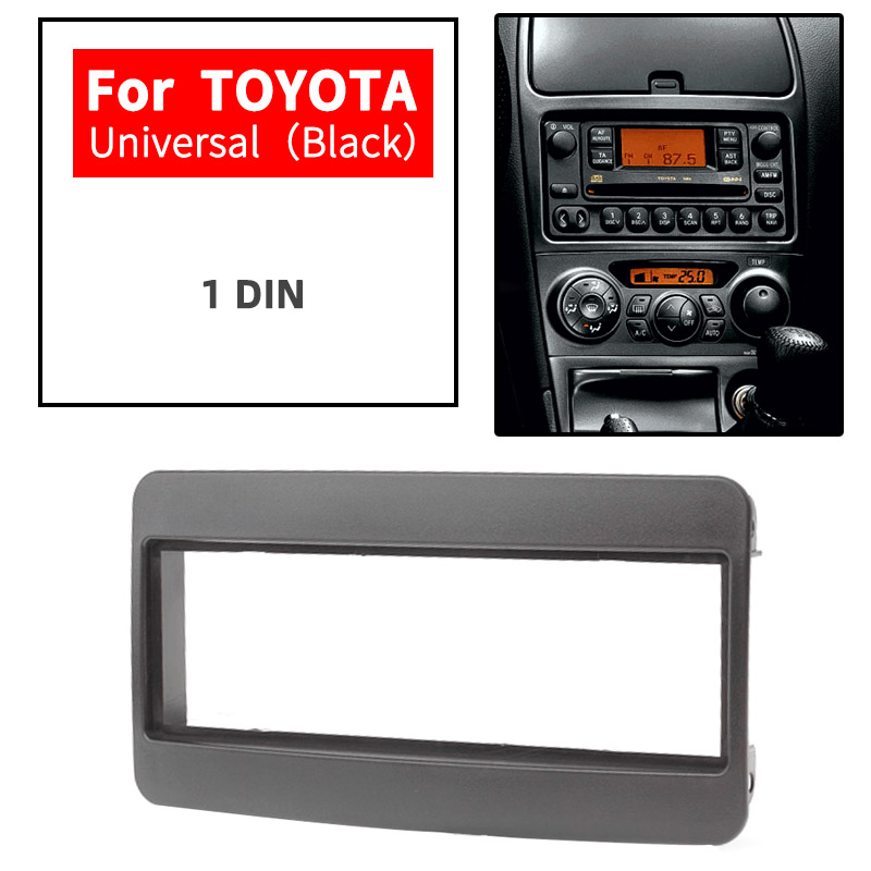 11-036 Car 1 DIN DVD Radio fascia facia panel Frame plate for TOYOTA Universal (Black) Stereo Audio CD Installation Kit facia image