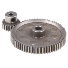 2pcs (21t+64t) 11184 & 11181 Differential Metal Main Gear 64t Motor Gear 21t Cap Circumference 1/10 94170 Car