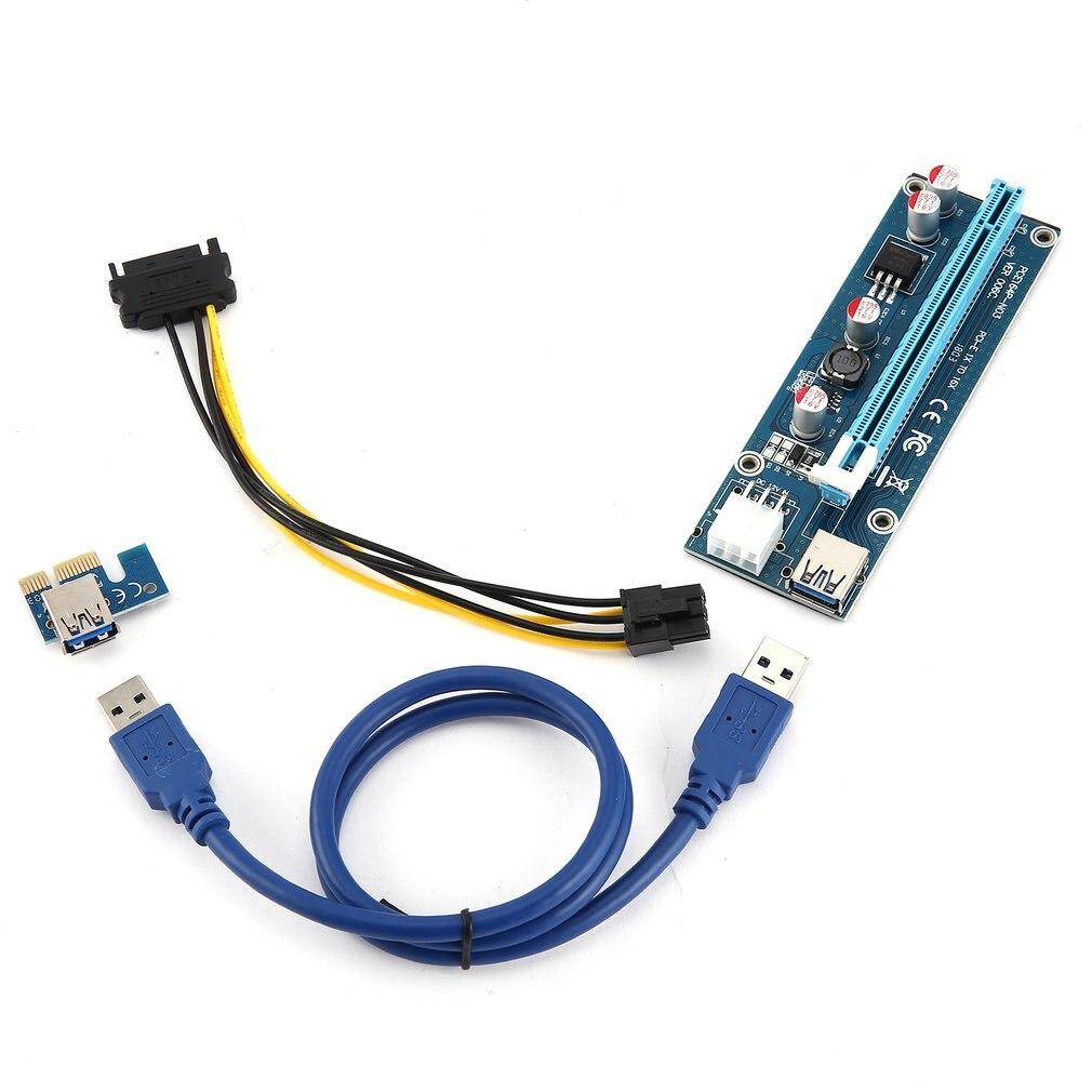 6 шт. 6PIN интерфейс питания PCI-E расширитель 1X до 16X удлинитель для удлинителя кабеля переходника адаптер для карты 6 Pin набор кабелей питания