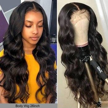 YYONG 30 32 pulgadas 13x6 13x4 pelucas de cabello humano con encaje frontal para mujeres negras Remy malasio Body Wave 4x4 peluca con cierre de baja proporción