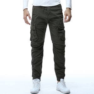 Image 4 - 2020 Mens Camouflage Tactical Cargo Pants Men Joggers Boost Military Casual Cotton Pants Hip Hop Ribbon Male army Trousers 38