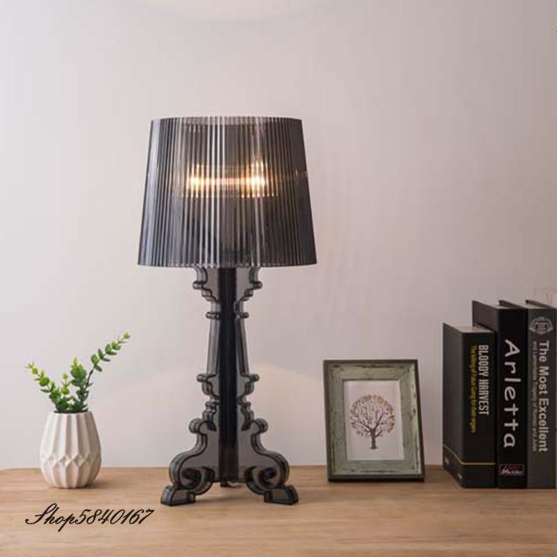 Настольная лампа в Европейском стиле, акриловая, креативная, для спальни, E27|Настольные лампы|   | АлиЭкспресс - Красивое освещение с Али