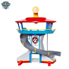 Toy Puppy-Patrol Action-Figures with Music--Light Rescue-Base Children's PAW Lookout-Tower