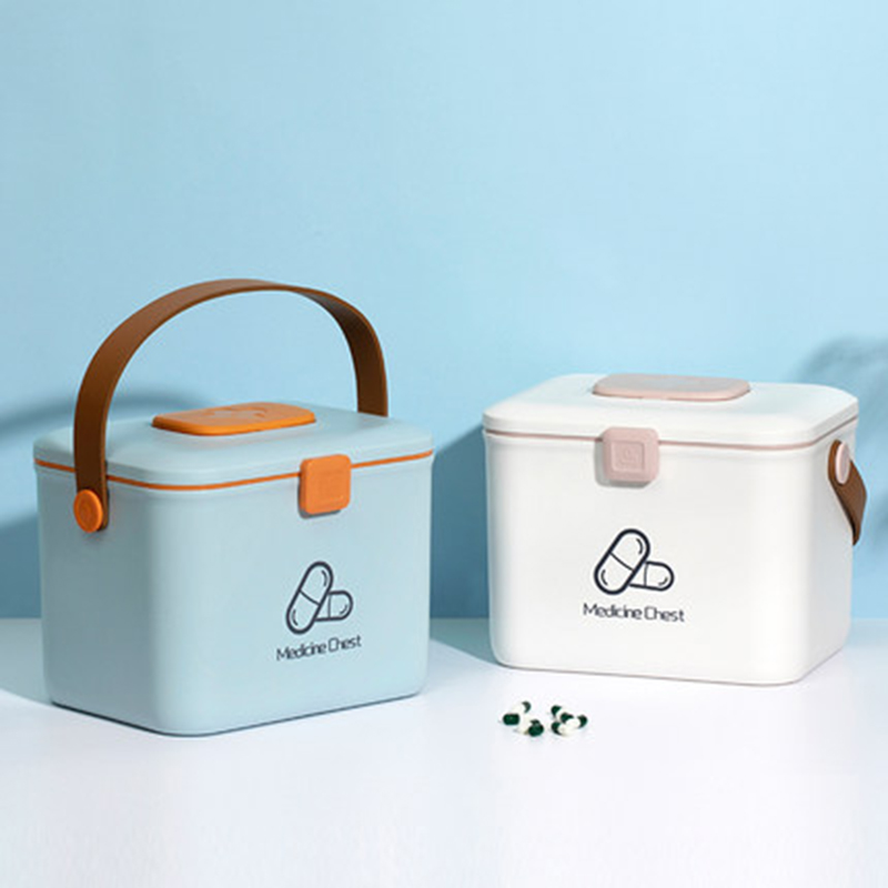 Household Medical Box Plastic First Aid Box Medical Box Large Storage Box Storage Box Medicine Box Emergency Container