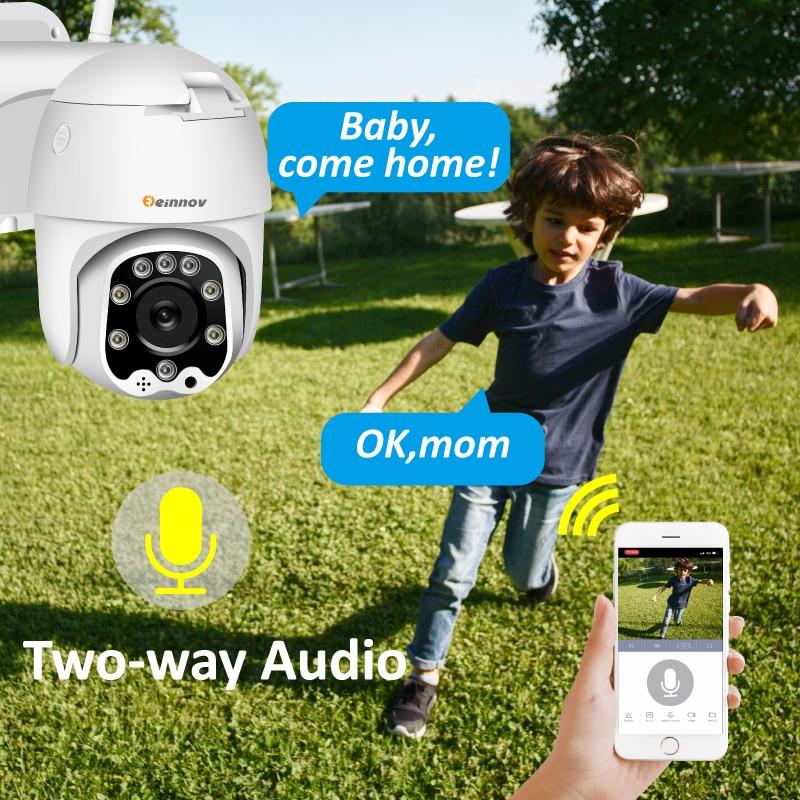 H55ee226c5ded4d98ab80a7b959d0d7a5O Einnov Wifi IP Camera Wireless Security Camera Outdoor 1080P HD Surveillance Camara Audio Onvif 2MP IR Night Vision P2P Yoosee