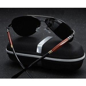 Image 3 - 2020 جديد رجل الاستقطاب النظارات الشمسية الفضة إطار معدني UV400 عدسات عاكسة النظارات مع صندوق الحجم: 62 51 136mm
