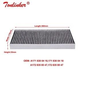 Image 4 - Kabin filtresi A1718300418 için 1 adet Mercedes benz SLC R172 180 200 250d 300 SLC43 2016 /SLK R171 r172 200 280 300 350 55 AMG modeli