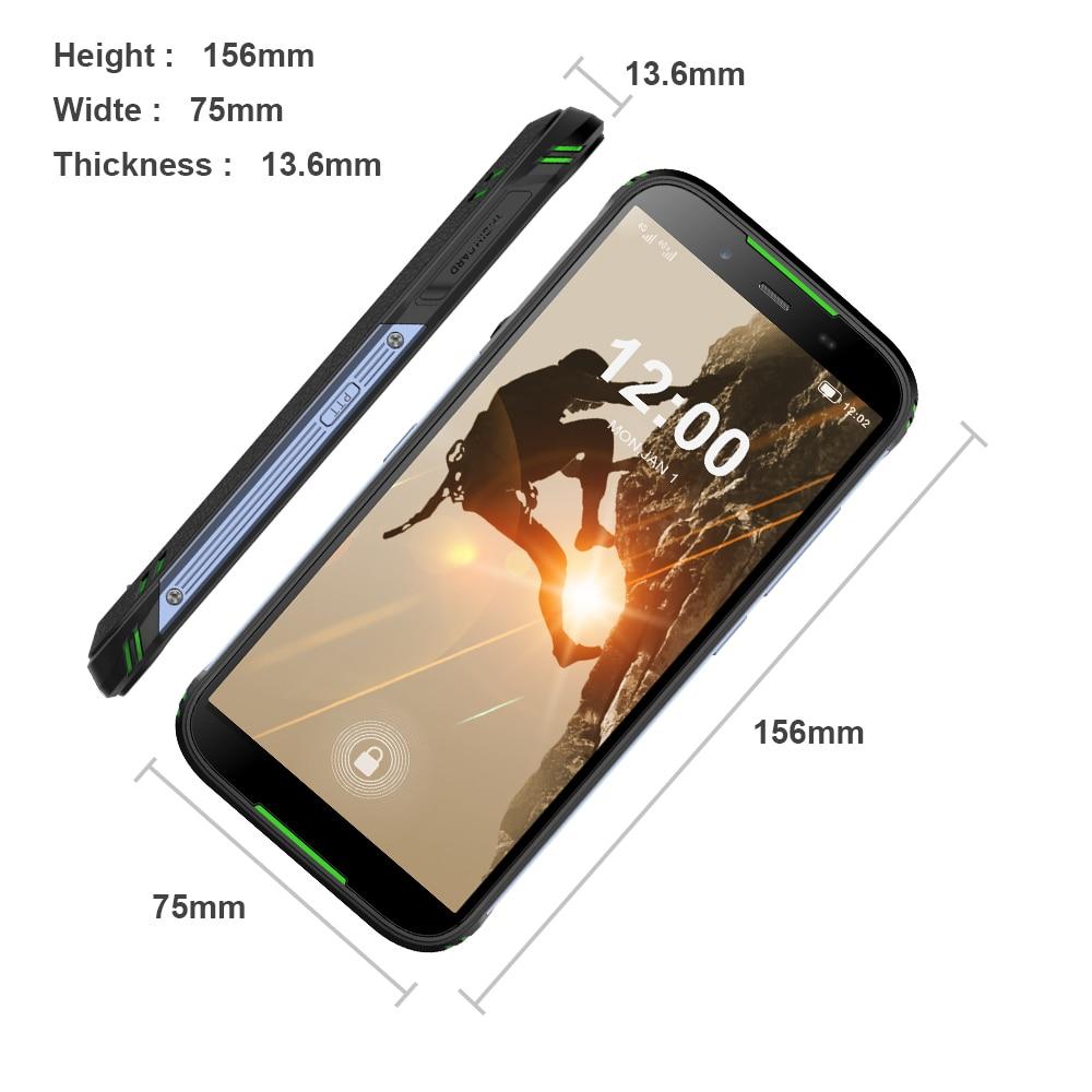 Version mondiale HOMTOM HT80 IP68 Smartphone étanche Android 10.0 5.5 pouces MT6737 Quad Core NFC sans fil charge SOS téléphone portable - 4