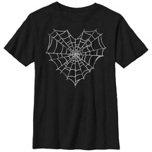 Lost Gods Halloween Heart Spider Web - Boys Graphic T Shirt Streetwear Casual Tee Shirt(China)