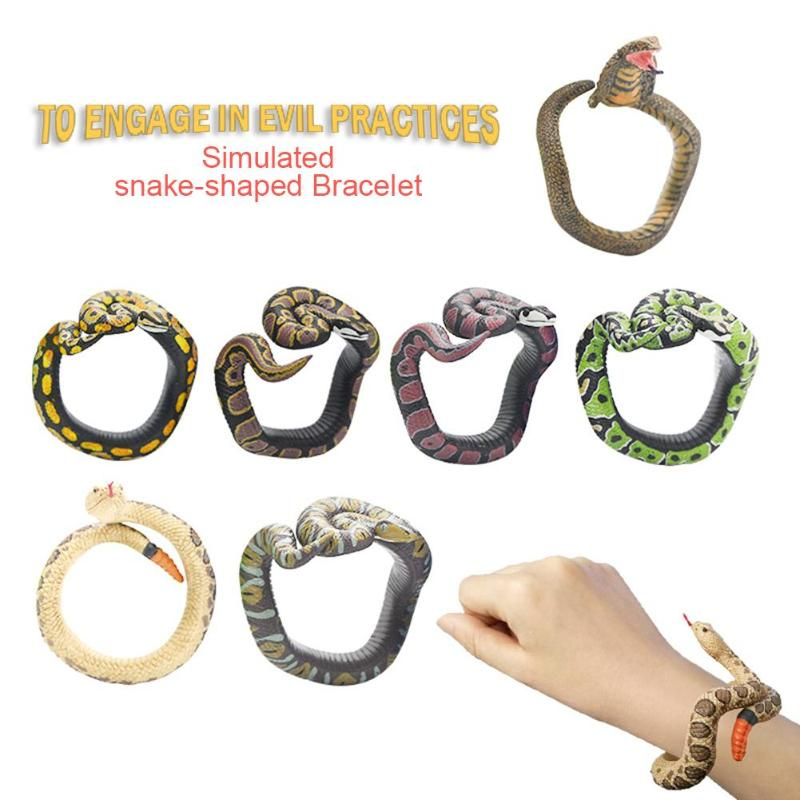 Simulation Snake Model Bracelet Toy Funny Prank Toy Halloween Party Supply Prop Environmental Protection And Durability