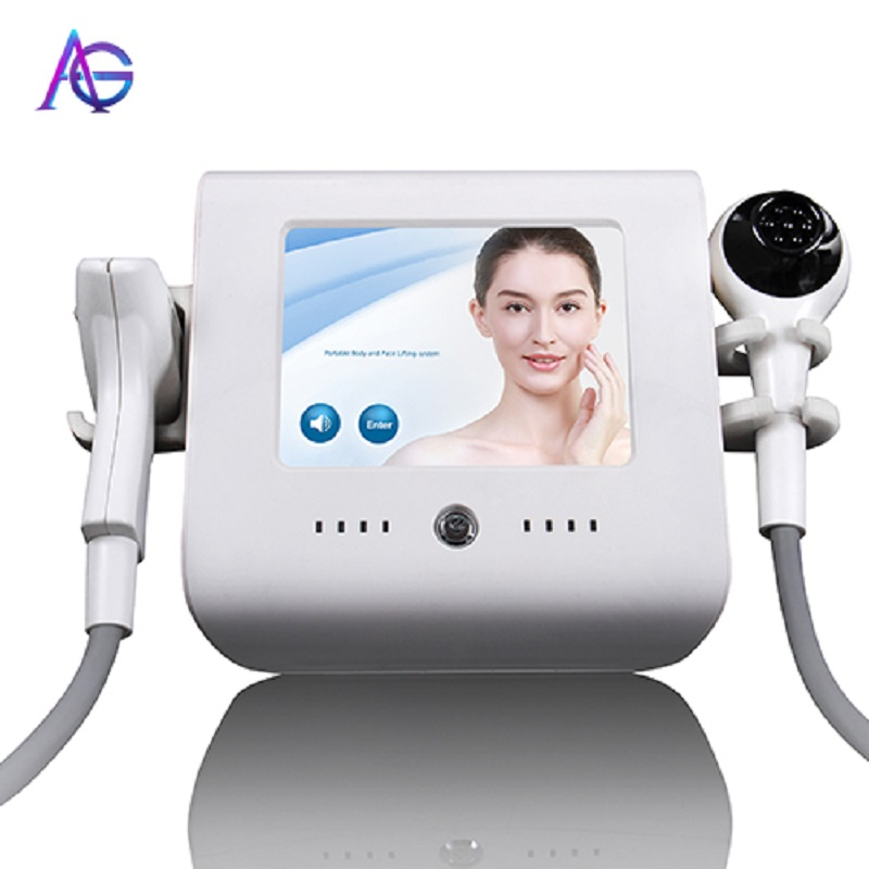 Adg 2 In 1 Beauty Apparatus For Skin Tightening Wrinkles Smooth And Acne Removal