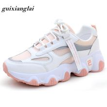 Обувь для папы женская летняя дышащая сетчатая обувь ins music