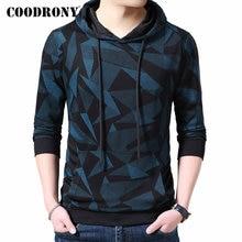 COODRONY מותג Mens נים Streetwear אופנה דפוס בסוודרים הסווטשרט גברים סתיו החורף מזדמן ברדס סווטשירט גברים חולצות 94008