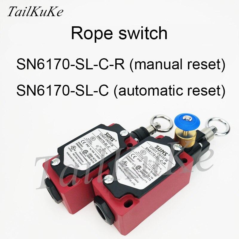 Three SUNX Pull Switch SN6170-SL-C-R Switch Safety Switch Emergency Stop Switch