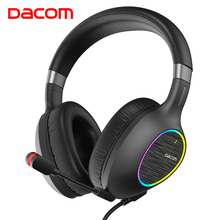 DACOM GH06 USB Gaming Headphone Stereo Headphone Adjustable With Microphone for Laptop/PC/Mobile