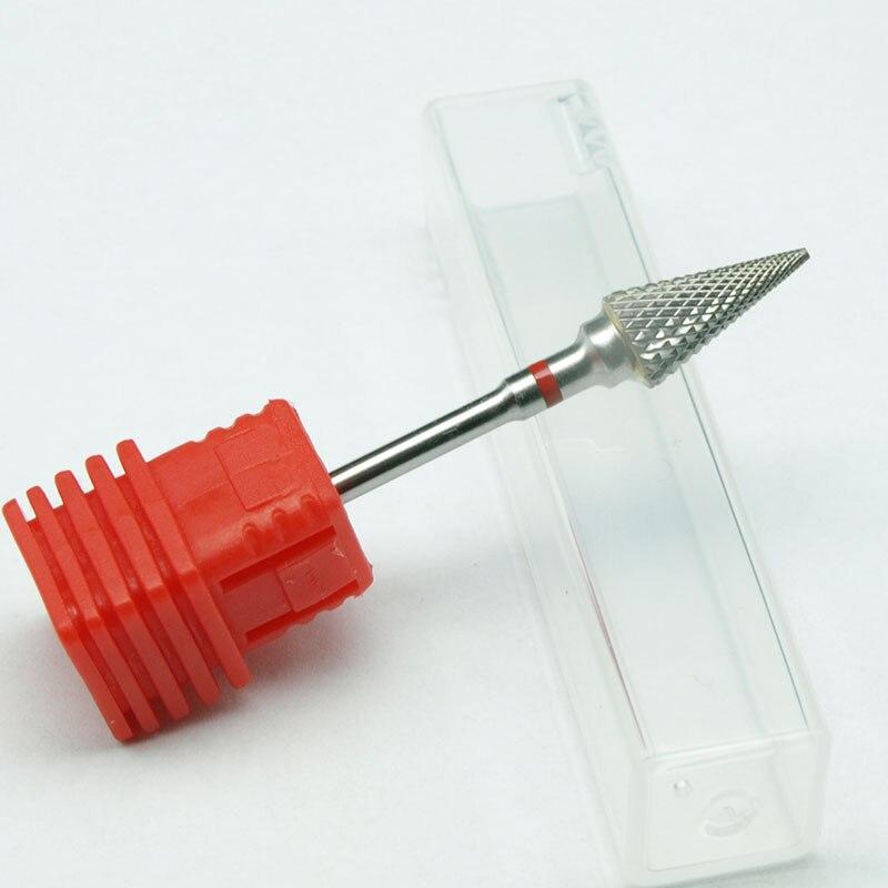 EasyNail~ 1pcs Pro. 3/32 '' Fine Cone Shape Nail Drill Bit Nail File Nail Art Tools Gel Remover Nail Cleaner Bit,Quality.