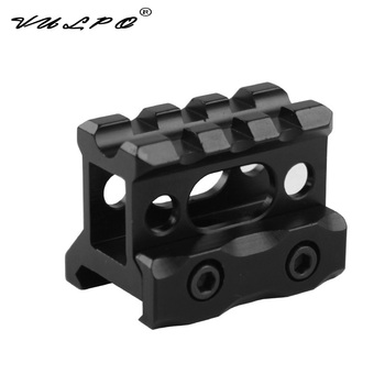 VULPO Tactical rail mount scope rise mount Red dot Sight Mount Fits 20mm picatinny rail tactical 1x red dot sight scope 3x magnifier with picatinny rial side flip mount base tan m1243