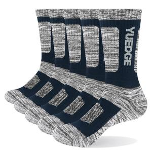 Image 3 - YUEDGE 5 pairs mens brand cotton breathable comfortable casual business warm thick socks mens crew socks dress socks