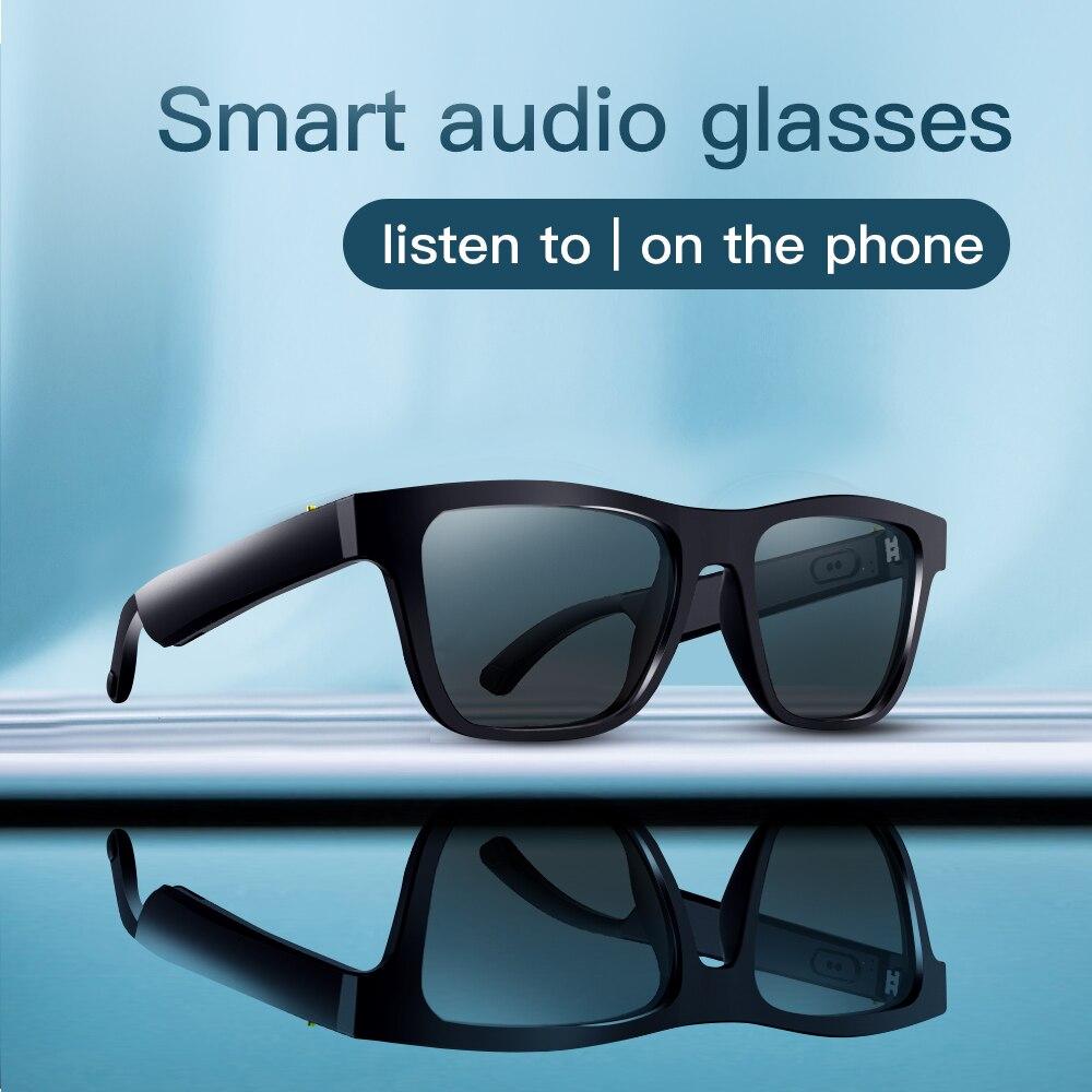 Wellermoz UV400 Women's Sunglasses Bluetooth Sunglasses Bluetooth Smart Sunglasses Men Polarized UVA UVB Sunglasses Square 2020