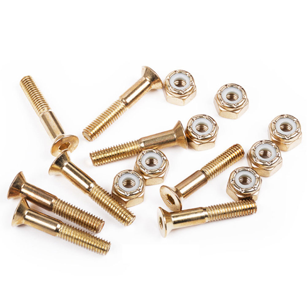 8pcs Longboard Hardware Cruiser Speed Racing Skateboard Home Medium Carbon Steel Accesories Truck Screw Nut Set Replacment Part