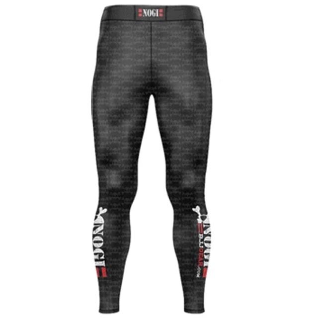 Men Skull Printing Yoga Pants Sportswear Soft Comfortable BJJ MMA Full Length Spats 1