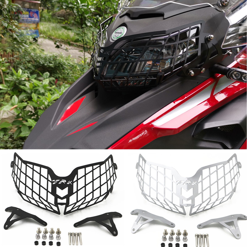 Fast Shipping New Style Motorcycle Headlight Guard Protector Grille Covers For <font><b>Benelli</b></font> TRK502 <font><b>TRK</b></font> <font><b>502</b></font> Motorcycle <font><b>Accessories</b></font> image
