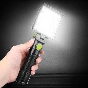 Image 5 - Lampes de travail à 16 led, lumière blanche, rouge et bleue, lampe de travail pour la réparation de voiture, torche USB 18650, aimant intégré, lanterne de tente de Camping