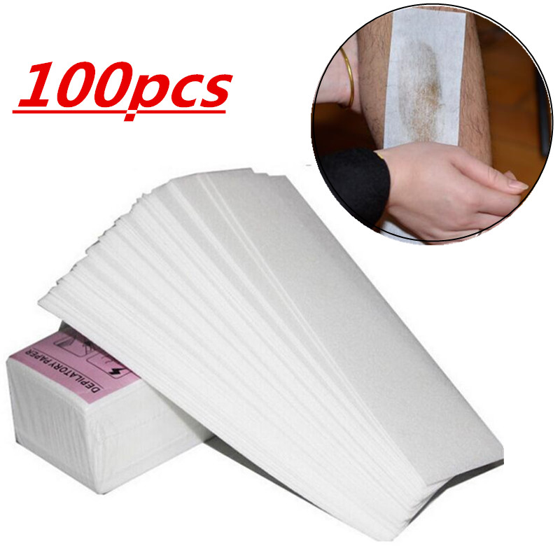 100pcs Removal Nonwoven Body Cloth Hair Remove Wax Paper Rolls High Quality Hair Removal Epilator Wax Strip Paper