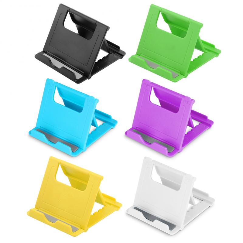 Multi-Angle Universal Adjustable Foldable Cell Phone Tablet Desk Stand Holder Smartphone Mobile Phone Bracket 6 Colors TSLM1