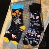 Erwachsene Crew Baumwolle Socken Ballon Astronaut UFO ET Alien Schiff Raum Flug Luft-Und Raumfahrt INNCH Original Design 2020 Street Fashion Sox