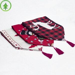 Image 4 - Kerst tafel decoratie elanden sneeuw print tafelkleed cover vlag tafelkleed kerstboom doek thee tafel decoratie