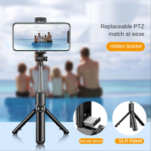 3 In 1 Wireless Bluetooth Selfie Stick Foldable Mini Tripod Expandable Monopod with Remote Control Fill Light Shutter for Camera