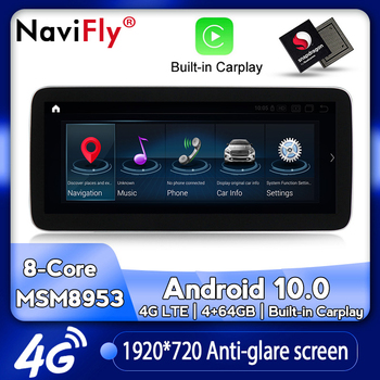 NaviFly Android 10.0 Car dvd radio multimedia Player GPS for Benz A class W176/CLA X156 A200 A260 CLA180 CLA200 CLA250 GLA 250 image
