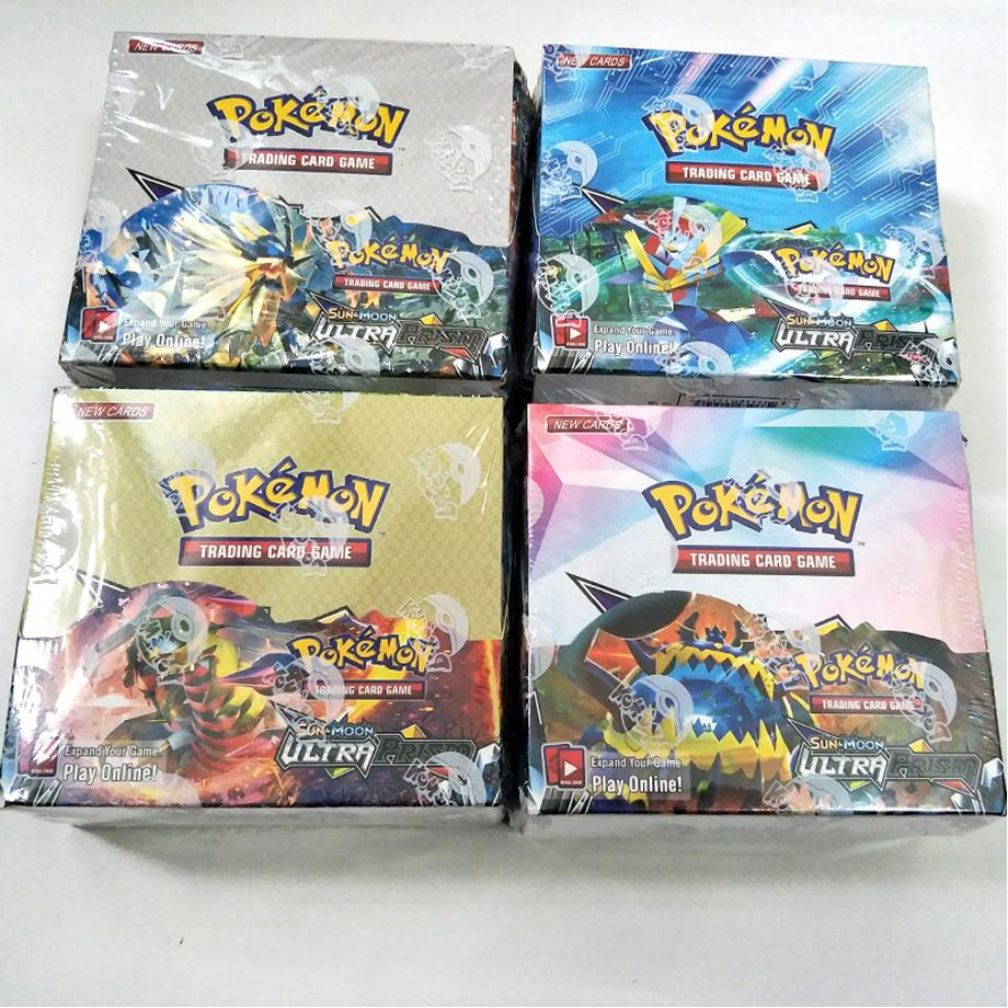 324pcs Pokemon Card TCG: Sun & Moon TEAM UP Edition 36 Packs Per Box Collectible Trading Cards Game Kids Toy Gift